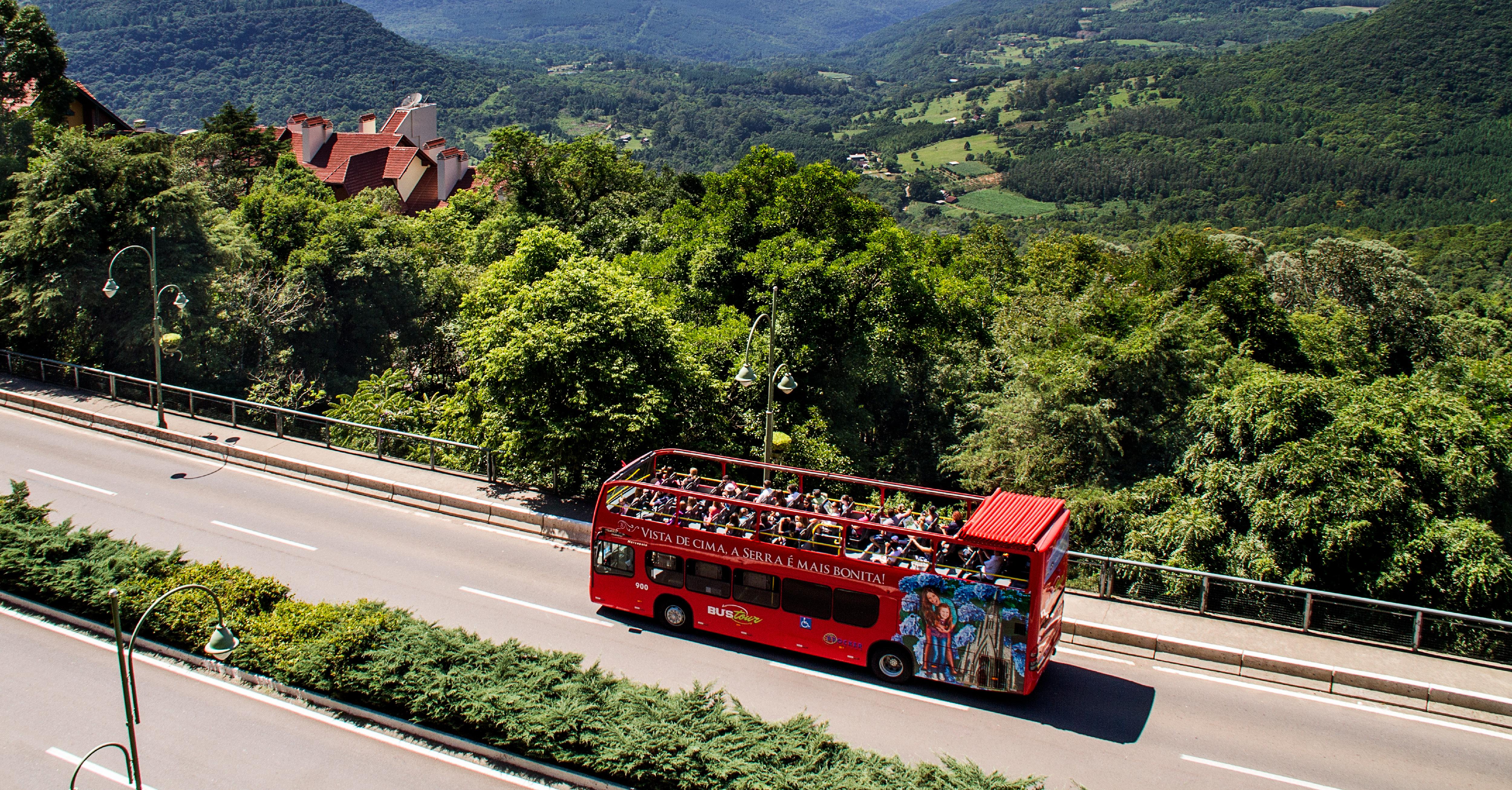 Bus Tour. Vista de cima, a Serra é mais bonita!