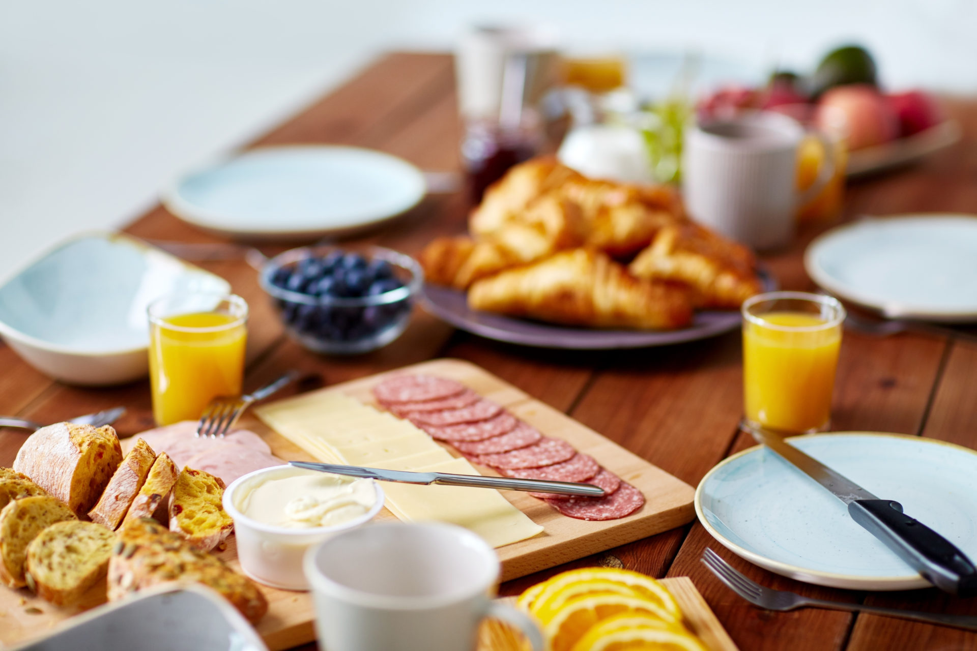 Café da manhã servido nos hotéis de Gramado