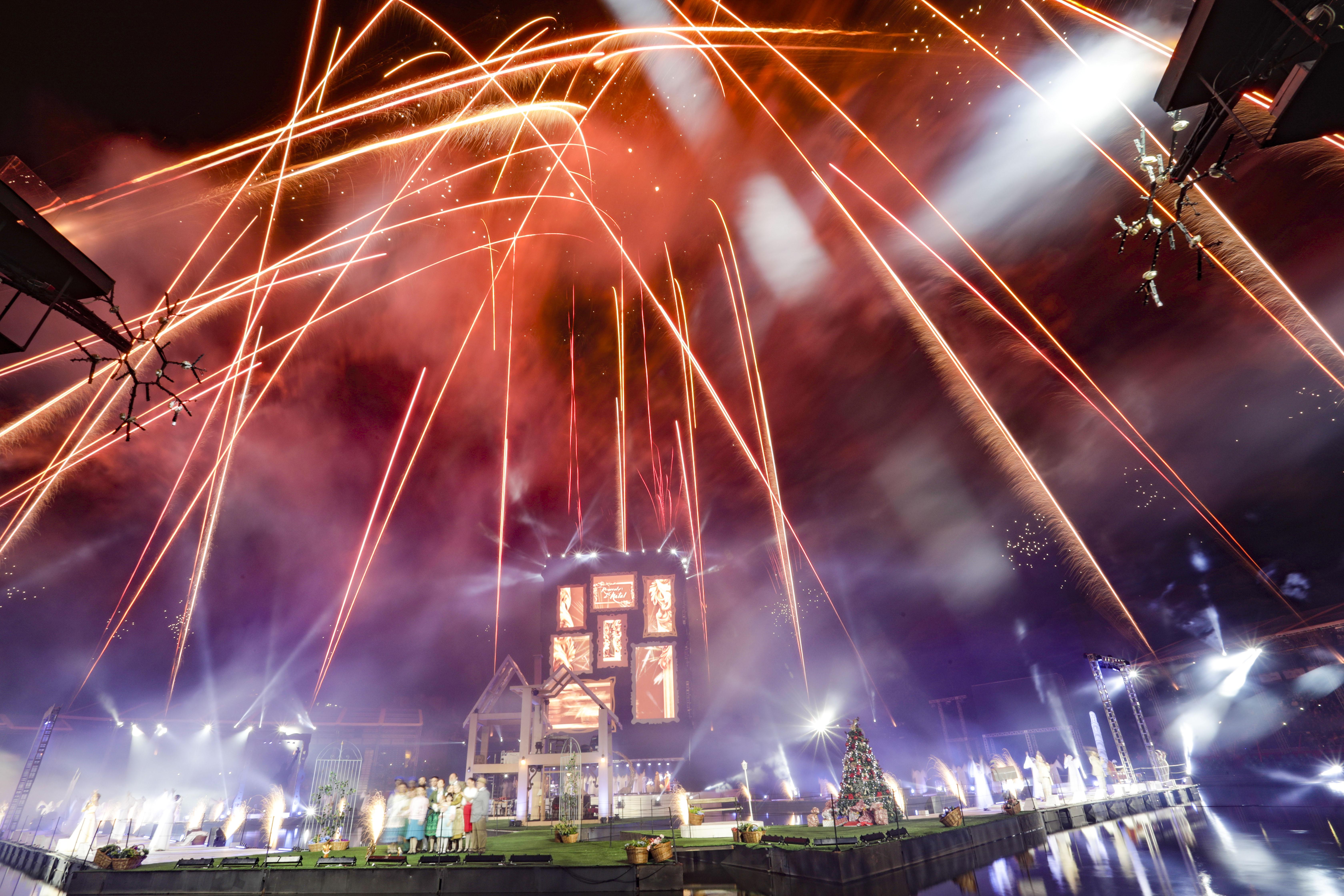 O Espetáculo Reencontros de Natal. Foto Cleiton Thiele/SerraPress