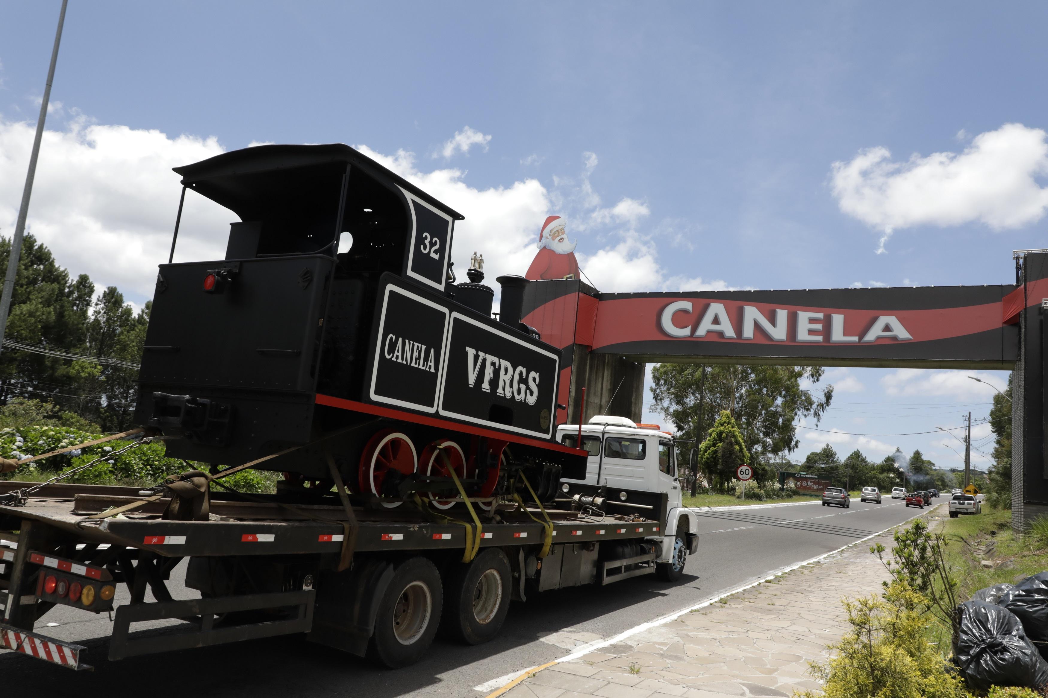 A locomotiva Le Muse retornando à Canela. - Foto: Cleiton Thiele
